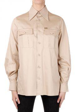 Camicia in Cotone Stretch con Fusciacca