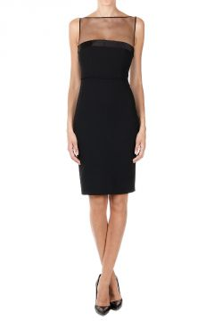 Stretch Virgin Wool Sheath Dress