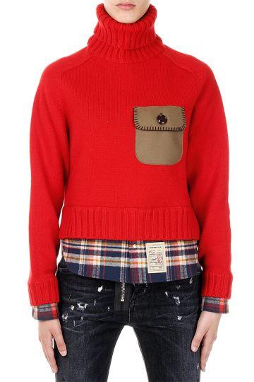 Turtle Neck Wool Sweater