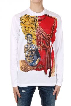Printed Cotton Long Sleeved T-shirt
