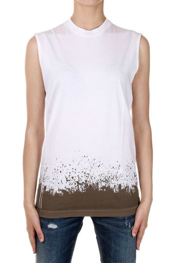 T-Shirt ICON Girocollo Senza Manica Con Stampa