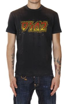 T-shirt Destroyed in Cotone