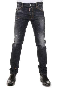 Jeans Stretch Denim  con Strappi 16 cm