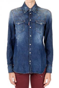 Camicia di Jeans in Cotone