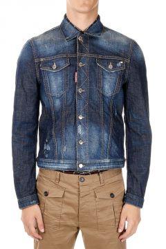 Giubbotto in Jeans Con Ricamo