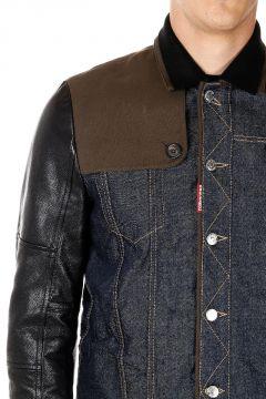 Cappotto in Jeans e Pelle