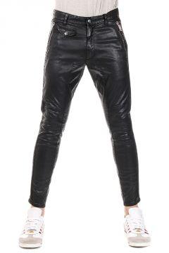 Pantaloni Biker in Cotone Stretch