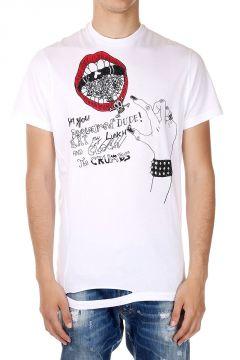 ICON T-Shirt con Stampa Bocca