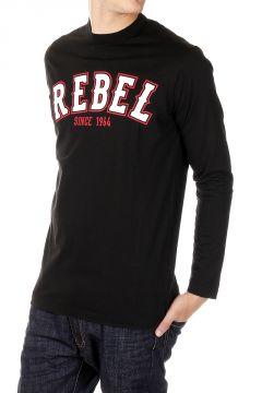 T-Shirt Maniche Lunghe Stampa REBEL