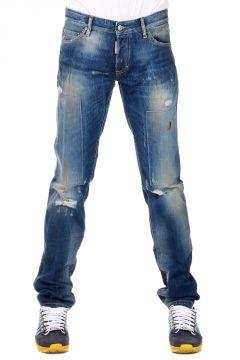 Jeans SLIM in Denim Destroyed 18 cm