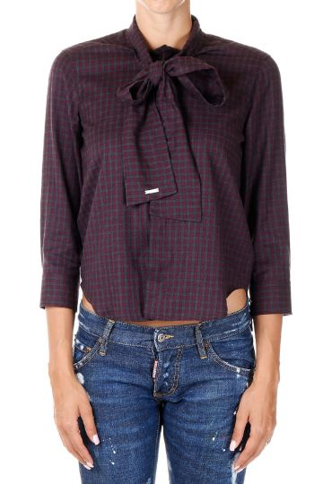 Bow Checked Shirt