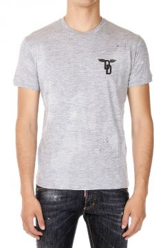 T-shirt in Cotone misto a Girocollo