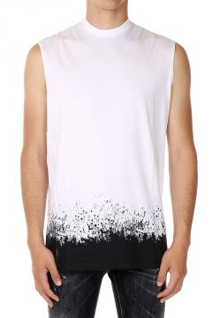 Sleeveless LONG COOL TWISTED T-shirt