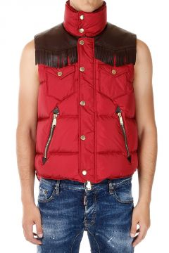 Vest with Leather Tassels