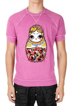 T-shirt SEXY MUSCLE FIT con Paillettes e Borchie