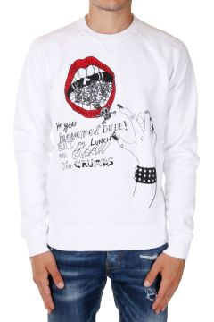 ICON mouth Printed Round Neck Sweatshirt