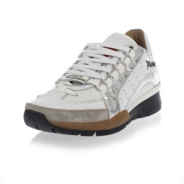 Sneakers Stringate in Pelle