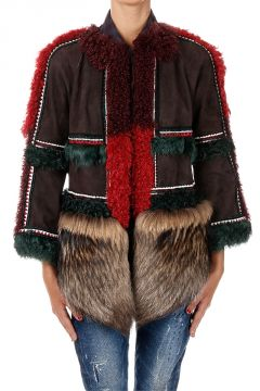 Embroidered Leather Jacket with Murmansky Fur