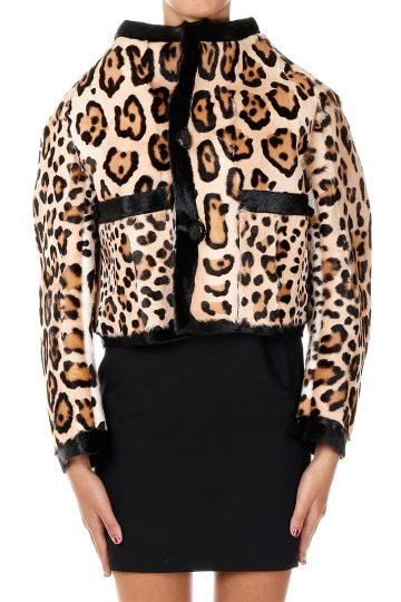 Short Goat Fur Coat