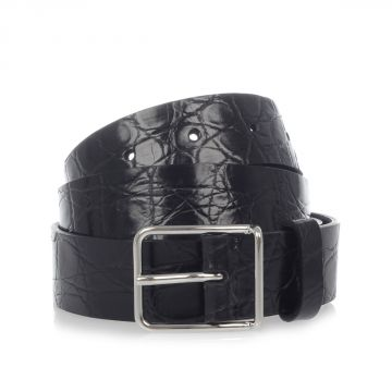 Crocodile Leather Belt