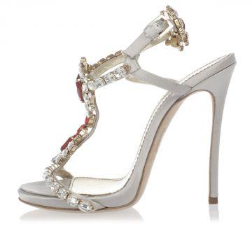 Sandalo Gioiello con Tacco a Spillo 11 cm