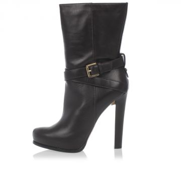 Leather Ankle Boots Heel 12 cm