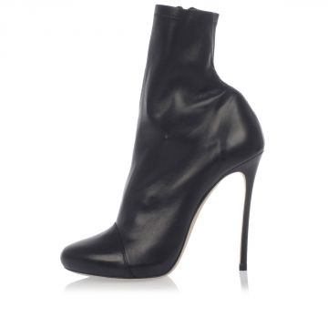 Nappa Leather Ankle Boots Heel 12 cm