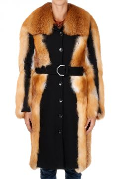 Fox Fur coat With Belt