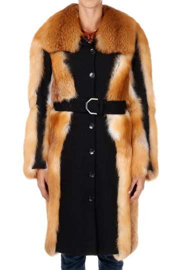 Fox Fur coat With Belt