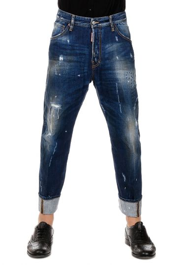 Jeans WORK WEAR in Denim con strappi  20 cm