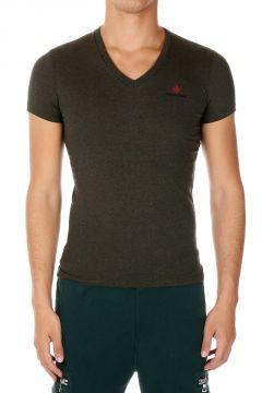 T-shirt Scollo a V in cotone Jersey