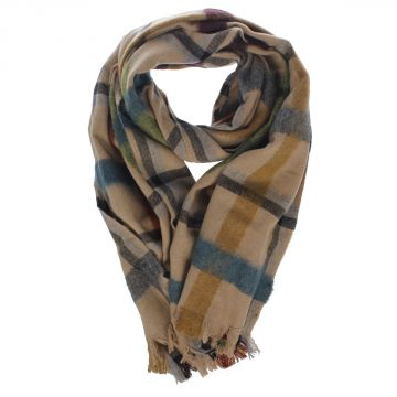 Wool Blend Checked Scarf