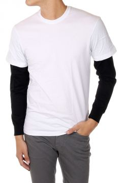 T-Shirt DOUBLE SLEEVES Girocollo a Manica Lunga