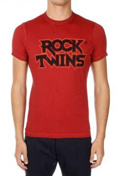 T-shirt Girocollo stampata in Jersey di cotone