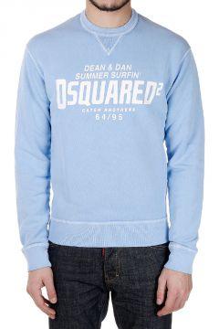 Printed DEAN FIT Round Neck Sweatshirt