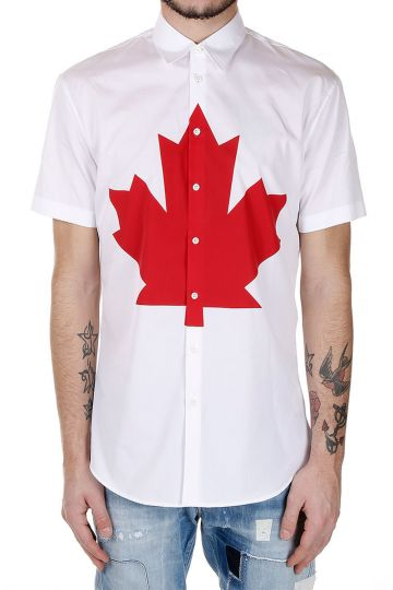 Camicia Manica Corta in Popeline di Cotone