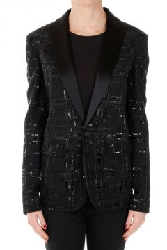 Embroided Blazer with Paillettes