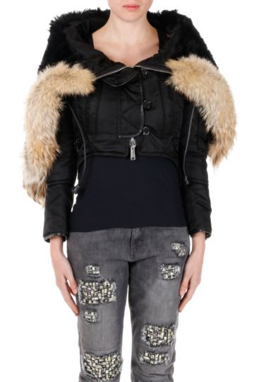 ICON Hooded Jacket with real Coyote Fur