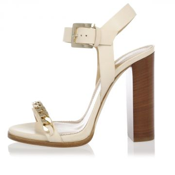 Leather SUNSET BOULEVARD Sandal 12 cm Heel