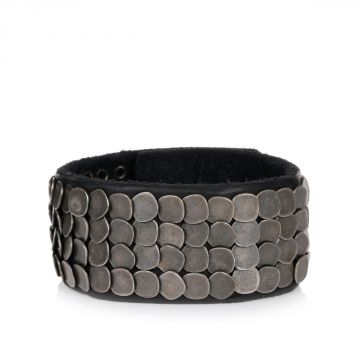 Flat Studs Leather Armlet