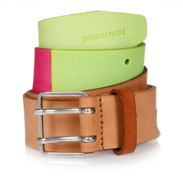 35MM Multicolor Leather Belt