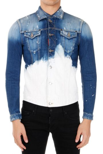 Vintage Effect Stretch Denim Jacket
