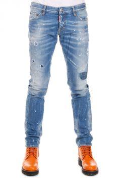 Jeans Hawaiian Grunge Slim Jean in Denim Stretch 17 cm