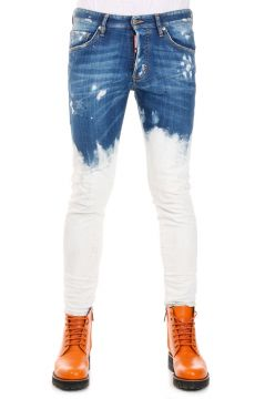 17 cm Stretch Bleach Denim Wash Jeans