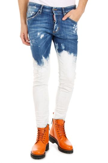 Jeans in Bleach Denim Wash Stretch 17 cm
