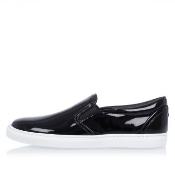 Patent Leather Slip On Sneakers
