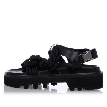 TECHNO JAPAN Leather Sandals with Technical Laces