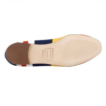 Multicolor Canvas Ballet Shoes