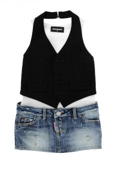 Vestito con mini Gonna In Jeans