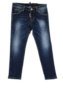 Stretch Denim Jeans 11 cm